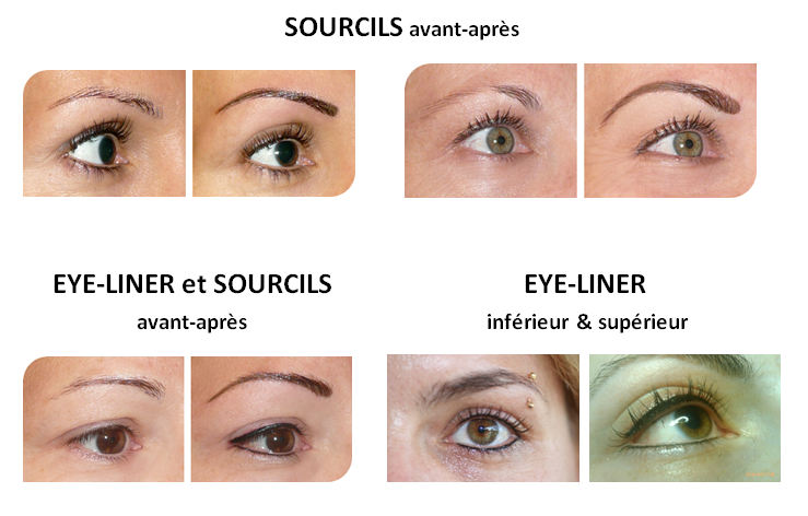 avant apres maquillage semi permanent